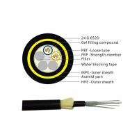 Wholesale Light Weight Aerial Outdoor Fiber Optic Cable 24 core ADSS Singlemode from china suppliers