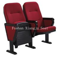 Wholesale Fabric Cushion Spring Return Auditorium Chairs / Cinema Seating With Writing Pad from china suppliers