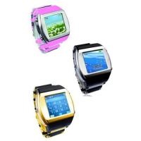 Wholesale HOT ! Watch phone quadband FM with camera bluetooth touch screen from china suppliers