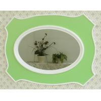 Buy cheap Decorative green wooden wall mirror from wholesalers