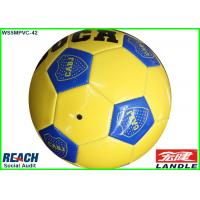 Wholesale Machine Stitched Yellow And Blue PVC Leather Football Soccer Ball 32 Panels Balls By Own Logo Printing from china suppliers