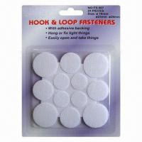 Wholesale Ø18, 23, 28mm, Assorted Self Adhesive Hook and Loop Velcro Glue Dots, 3,000-set MOQ from china suppliers