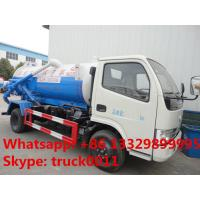 Wholesale high quality and competitive price 3000 liters vacuum tank truck,sewage suction truck from china suppliers