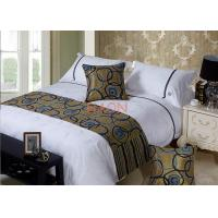 Wholesale Decoration Luxurious Bed Runners For Hotels , Hotel Bed Runner from china suppliers
