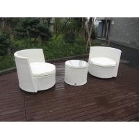 Wholesale Waterproof White Resin Wicker Chair Set For Home / Restaurant from china suppliers