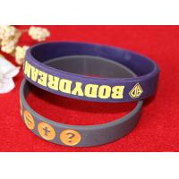 Wholesale Soft Custom Silicone Rubber Wristbands Delicate Debossed Color Filled Logo from china suppliers