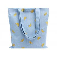 Wholesale Banana Printed 12 Oz Natural Custom Canvas Bags Reusable Ideal for Groceries , Shopping from china suppliers
