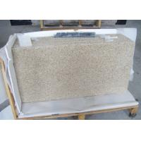 Quality Rustic Yellow Colored Granite Stone Slab Countertop For Kitchen Showroom for sale