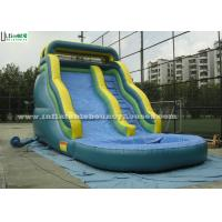 Wholesale 17 Feet High Curve Commercial Inflatable Water Slides Funny For Kids from china suppliers