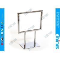 Wholesale Stainless Steel Double Sided Metal Floor Stand Sign Holder for Advertisement from china suppliers