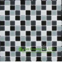 Wholesale 300mm*300mm Glass Crystal Mosaic Tile for Kitchen/Bathroom wall, Mixed Dark Color from china suppliers