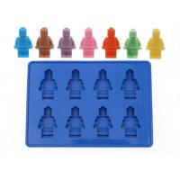 Wholesale Large 8 Robot Shape Silicone Ice Cube Tray / Baby Food Ice Trays from china suppliers