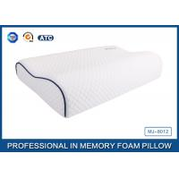 Wholesale Customized Embroidery Logo Tencel Fabric Contour Memory Foam Pillow With Piping from china suppliers