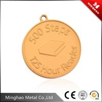 Wholesale Embossed letter logo gold metal label 50.63mm,brass metal brand logo label from china suppliers