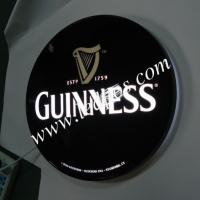 Wholesale Gunness Illuminated Sign Round Shape Lightbox from china suppliers