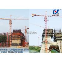 Quality QTZ100 Remote Control Construction Cranes Tower 60 Meter 8T Capacity for sale