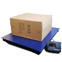 China Steel Floor Weighing Scales With Ramp 2000lb Industrial Electronic Customized Color on sale