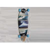 Quality Double Kick Longboard Canadian Maple Skateboards Deck With Heat Transfer Design for sale