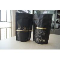 Wholesale Coffee Bean Packaging Matte Black Foil Pouch Packaging , Stand Up Degassing Valve from china suppliers