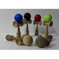 Quality Non Lead Natural Wooden Toys Kendama Bilboquet 178 X 70 X 60 mm for sale