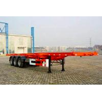 Wholesale 3 Axles 50 tons ABS Braking system extendable flatbed trailer for machine transport from china suppliers