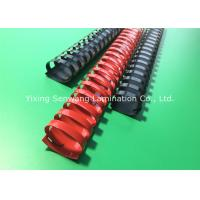 Wholesale Red / Black Book Binding Combs Round Shape 19 Rings 32MM Diameter from china suppliers