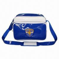 Wholesale PVC Leather Shoulder Bag/Leisure Bag, Sized 34 x 15 x 27cm, 210D Polyester Lining, Fashionable Style from china suppliers