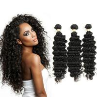 Wholesale No Shedding Unprocessed Peruvian Virgin Hair Extension Deep Wavy Curly Human Hair from china suppliers
