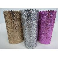 Wholesale Custom Design Grade 3 PU Glitter Fabric 0.7mm For Making Hair Accessories from china suppliers