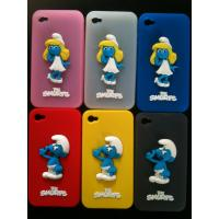 Wholesale OEM / ODM 3D Blue Sprite Silicone Cell Phone Covers / Custom Silicone Cases For Iphone 4 / 4s with Factory Price from china suppliers