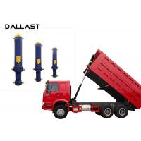 China Dump Truck  Single Acting Hydraulic Ram 3 / 4 / 5 Stage Chrome Telescopic on sale