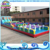 Wholesale inflatable tunnel game inflatable bouncer slide combo from china suppliers