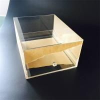 Wholesale Custom Transparent Acrylic shoe box with drawer from china suppliers
