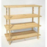 Wholesale OEM 4 Layer Dark Espresso Wooden Shoe Display Rack For Bathroom from china suppliers