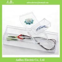 Wholesale Cheap price high transparent PS material plastic packaging box with cover and bottom from china suppliers