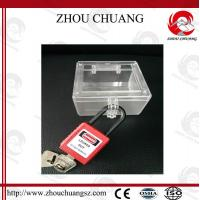 Wholesale Useful Safety Universal Emergency Stop Lockout Used With Padlock,hole size:74mm*74mm from china suppliers