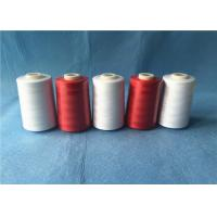 Wholesale Wear Resistant Polyester Core Spun Yarn 402 Count With Dyeable Pattern , Red Color from china suppliers