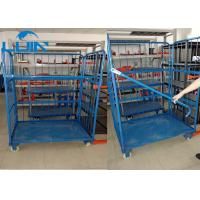 Wholesale Three Side Powder Coated Warehouse Storage Racks Folding Pallet Logistic Trolley from china suppliers