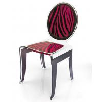 Wholesale Clear Acrylic Baroque Chair With Artwork , Modern Acrylic Furniture from china suppliers