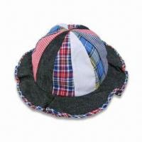 Wholesale Children's Bucket Hat with Multi-fabrics and 12 Panels, Measures 52cm from china suppliers