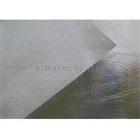 Wholesale 550℃ Aluminum Foil Coated Texturized Fiberglass Fabric , Aluminized Fiberglass Cloth from china suppliers