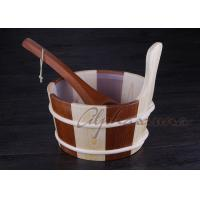 Wholesale Popular sauna buckets And Ladle , portable home sauna set Durable from china suppliers