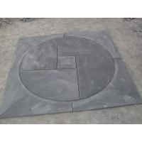 Wholesale Black Slate Medallion Square Pattern Plaza Floor Stone Decoration Slate Paving Stone from china suppliers