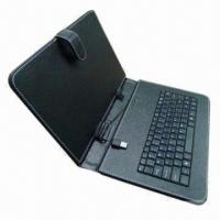 Quality Black Leather Case of USB Keyboard for 10 Inches Android Tablet PC, Made of PU  for sale
