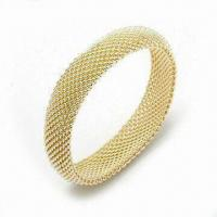 Wholesale 925 Sterling Silver Bangle with Fashionable Design and Gold Plating from china suppliers