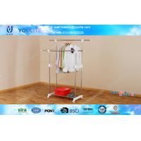 Wholesale Two-bar Metal Roating Indoor Laundry Drying Rack , Standing Telescopic Clothes Rack from china suppliers