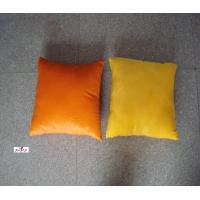 Wholesale Orange and Yellow Plain Custom Decorative Bed Throw Pillow for Travel from china suppliers