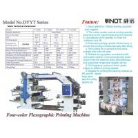 Wholesale Four Color Flexographic Printing Machine for Printing Paper / Plastic Shop Bag from china suppliers