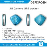 Quality newly released 3G gps tracker with fall alarm camera sos panic call and free app web platform real time tracking for sale