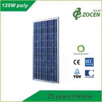 Photovoltaic PV Polycrystalline Solar Module 120W for Charging Led lights